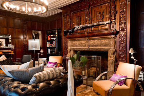 what is the gun installed over the fireplace & where did it come ...