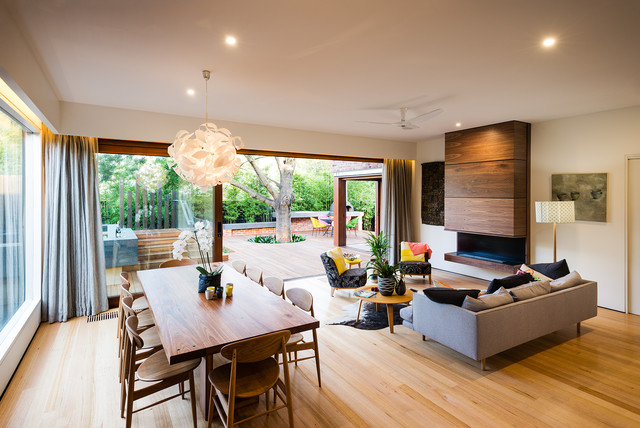 Naroon Road Contemporary Living Room Melbourne By