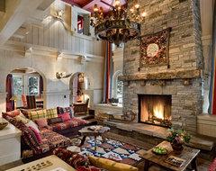 Alpine Ski Chalet, Norden, California rustic-living-room