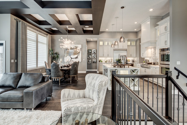 Alquinn Show Homes Featuring Divine Flooring Traditional Living Room Calgary By Divine