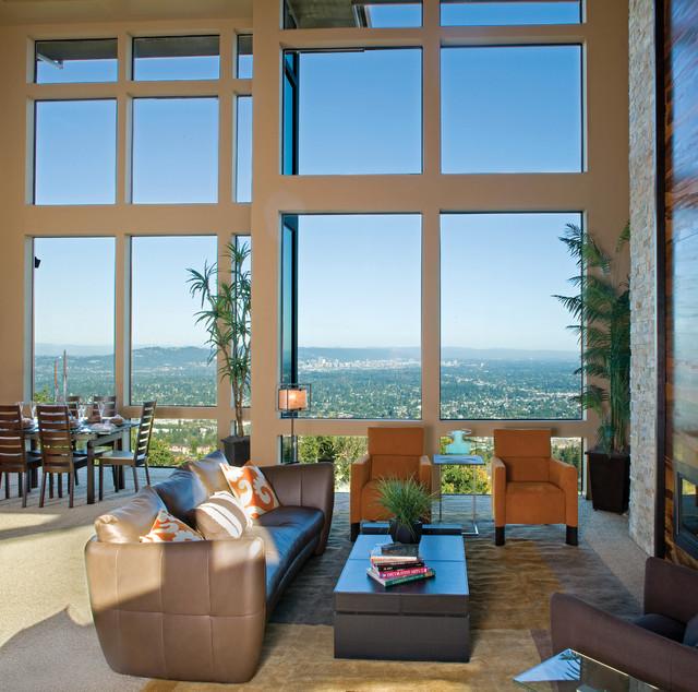 Aluminum windows modern living room los angeles by - Modern interior doors los angeles ...