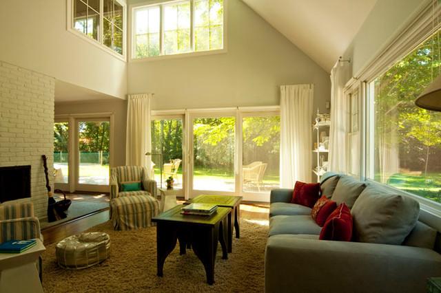 Amagansett Renovation contemporary-living-room
