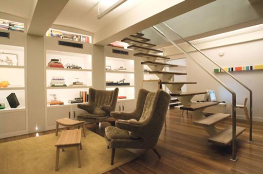 Amazing basement lighting modern-living-room