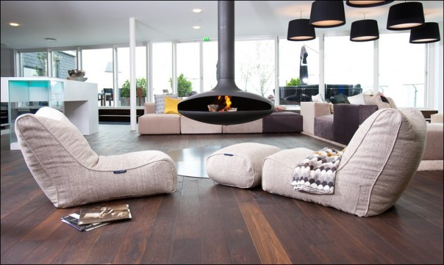 contemporary living room by Ambient Lounge Designer Bean Bags