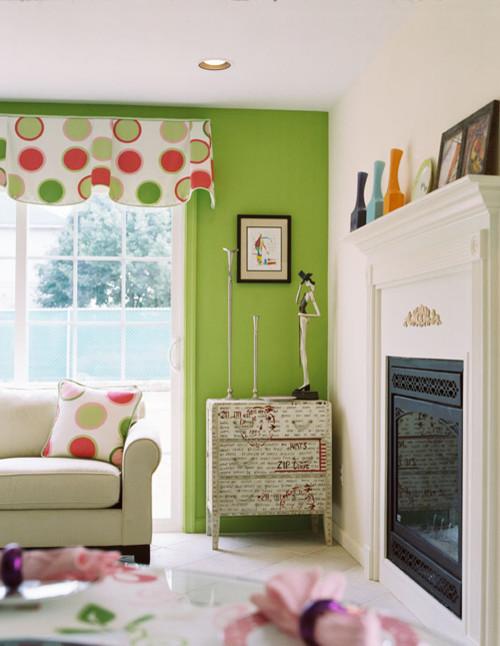 sala con paredes verdes