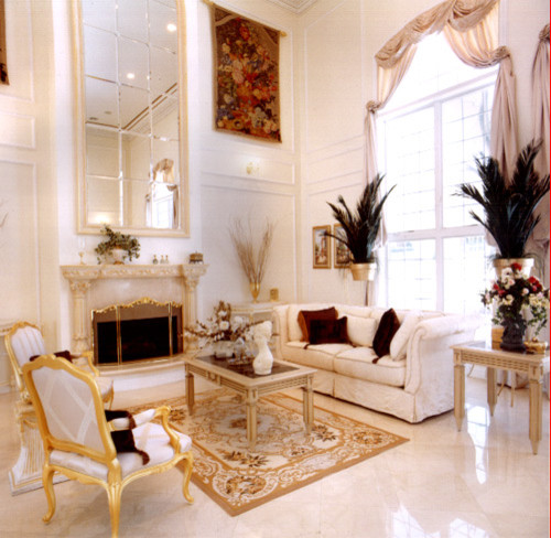 American international designs portfolio of for Residential living room interior design
