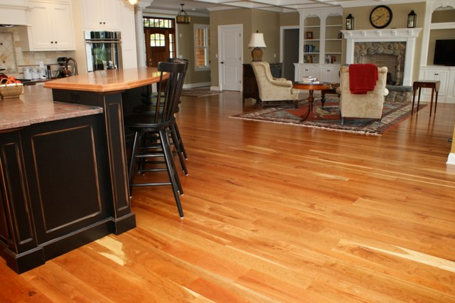 American Cherry Wood Floors Traditional Living Room