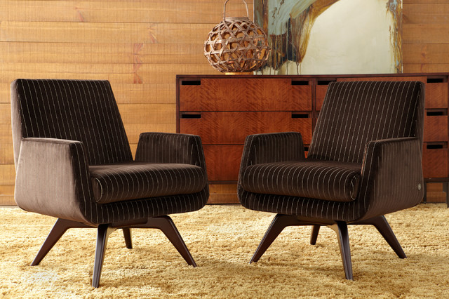 Beautiful American Leather Marshall Chairs Midcentury Living Room