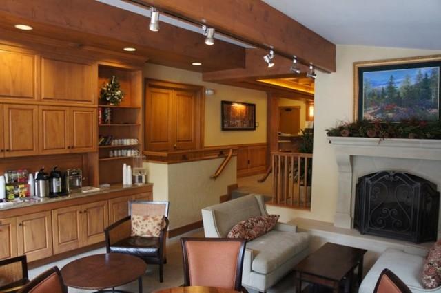 Amhurst Fireplace Mantel traditional-living-room