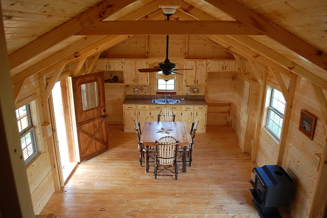 Amish Prebuilt Fully Assembled Cabins Delivered - Rustic - Living Room - Huntington - by Amish ...