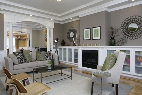 Living Room Design Houzz Delectable The Best Cream Paint Colours Benjamin Moore  Grey Living Room Inspiration