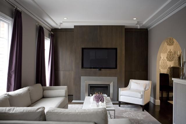 Amoroso Design contemporary-living-room