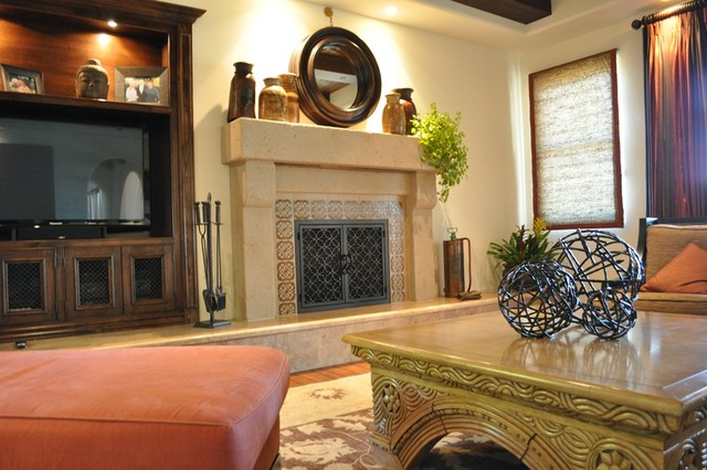 AMS Fireplace - California mediterranean-living-room