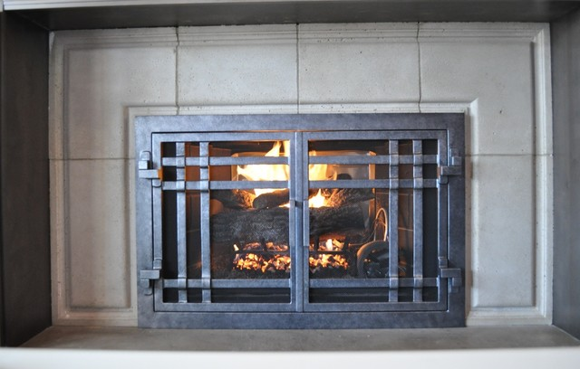 AMS Fireplace Doors Remodel Ideas - Contemporary - Living Room - san diego - by AMS Fireplace, Inc.