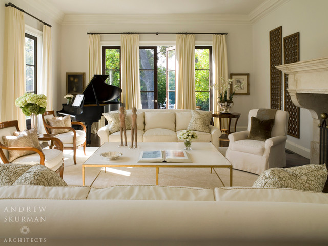 An American Country House Traditional Living Room San Francisco By Andrew Skurman Architects
