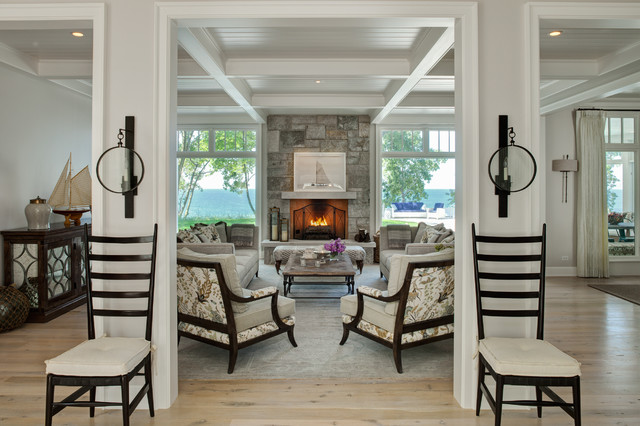 An Elegant Weekend Escape Beach Style Living Room