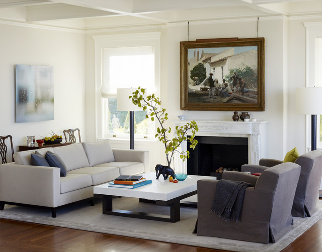 An Updated Classic traditional-living-room