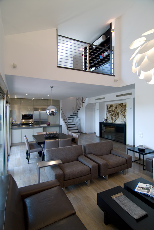 an urban penthouse modern living room