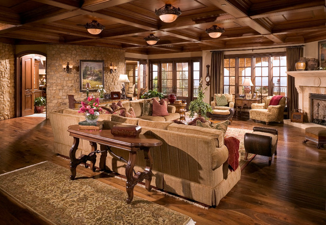 Anaheim hills tuscan villa mediterranean living room for Italian villa interior design ideas