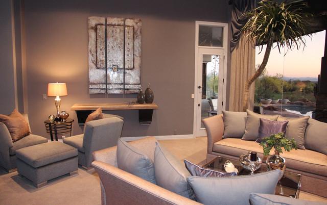 Ancala Platinum U0026 Champagne Traditional Living Room