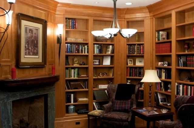 Pleasing Anderson Library Living Room San Francisco By Lonardos Inspirational Interior Design Netriciaus
