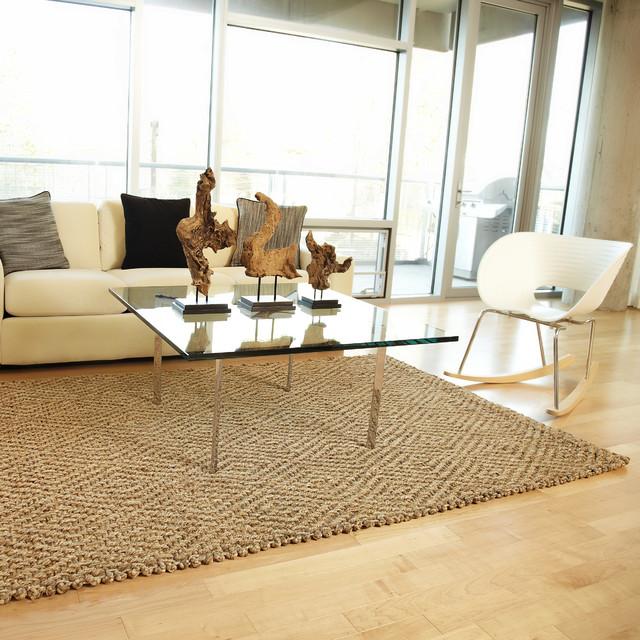 Anji mountain jute rugs rustic living room los angeles by