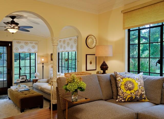 Ann Arbor Tudor Traditional Living Room Detroit By Laura Zender Design Allied Asid