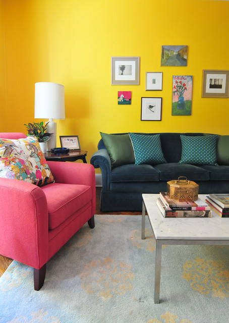 Annie Elliott's Color Splashed Home in DC - Eclectic - Living Room - DC Metro - by Nicole Crowder Design