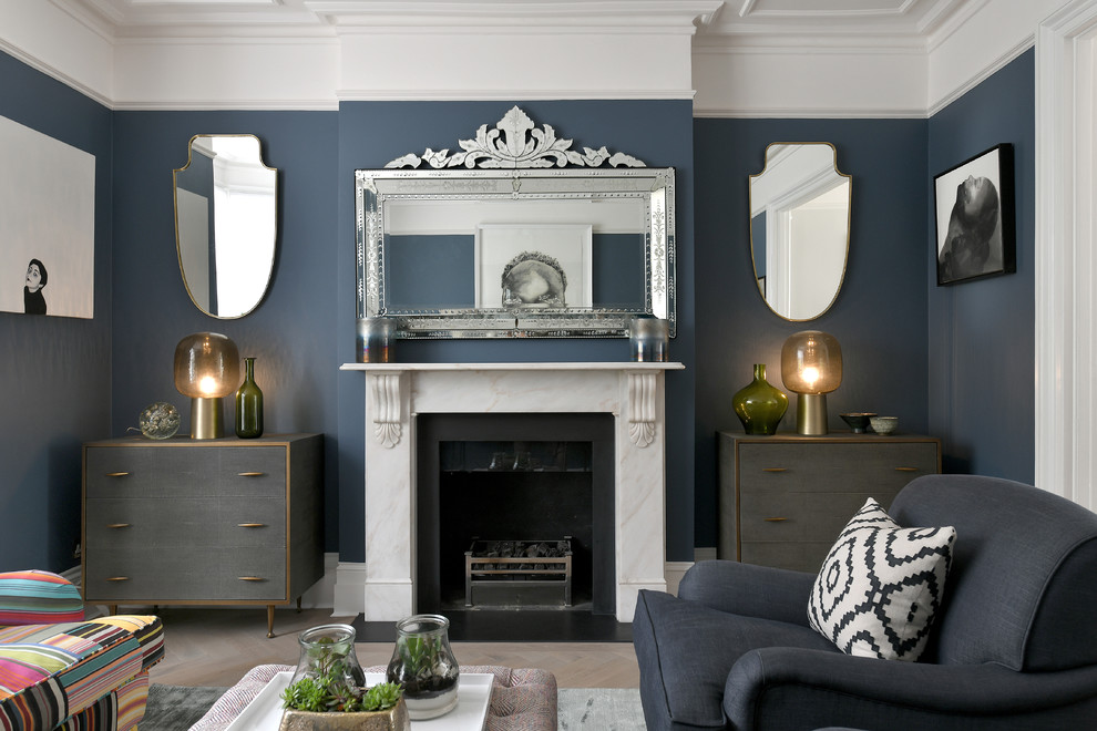 Another Collaboration With Trinity Interior Designs Victorian Living Room London By Paint The Town Green