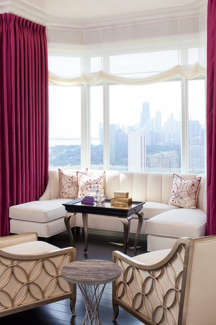 Anthony Michael Interior Design Living Room Bay Windows Contemporary Liv