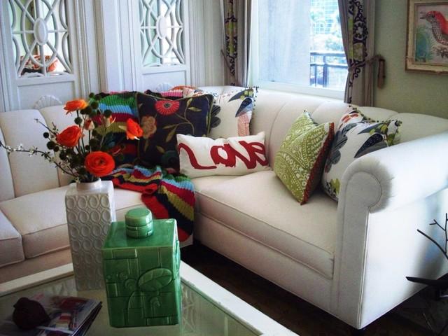 'Anthropologie' inspired loft eclectic-living-room