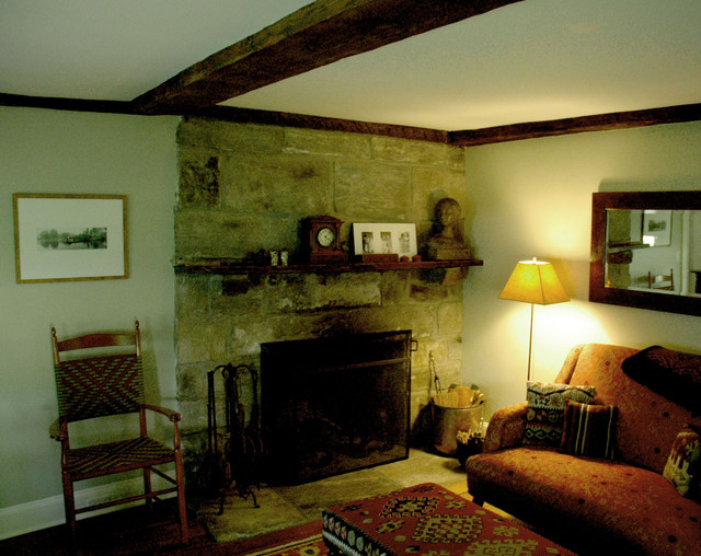 Antique Farmhouse Traditional Living Room New York By Patrick Mulberry Architect
