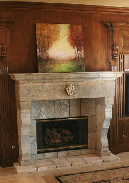 antique stone fireplace mantels living room los angeles by