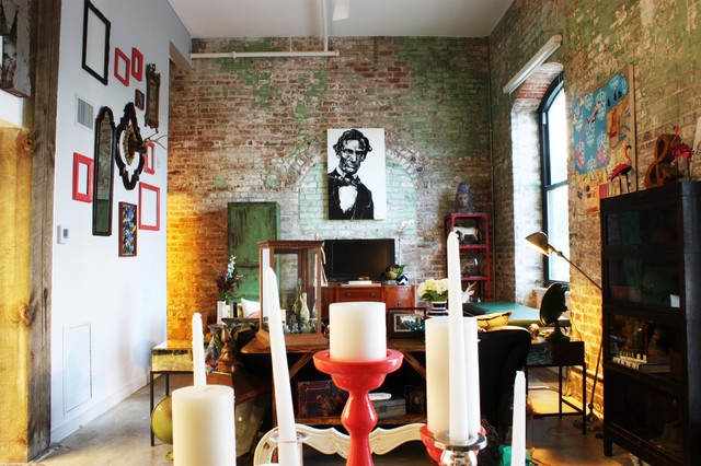 Antiques adorn an Eclectic Loft in a former New Orleans
