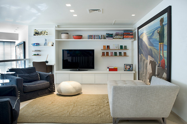 contemporary living room by Dana Gordon + Roy Gordon Architecture Studio