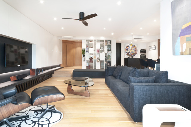 Apartment at Sommerville Park - Singapore contemporary-living-room