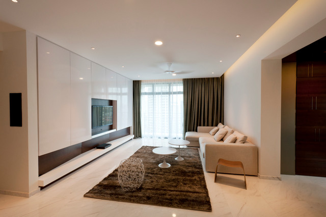 Apartment at spring grove singapore for Living room interior design singapore