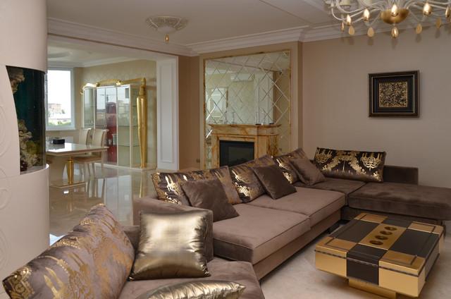 Apartment Interior Design Art Deco Light Modern Living Room