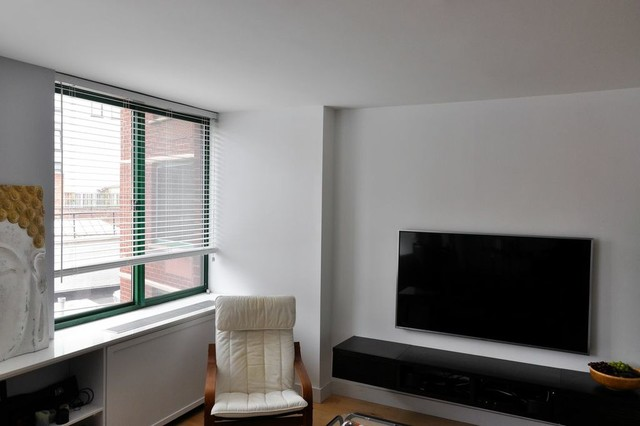 Apartment Renovation in Tribeca (Greenwich Street) contemporary-living-room