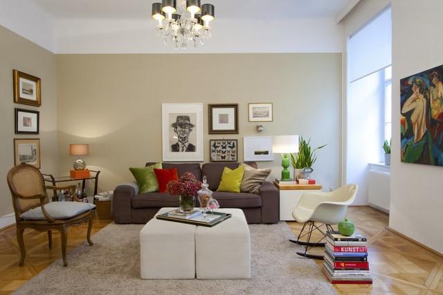 Apartment vienna naschmarkt eclectic living room for Designer apartment vienna