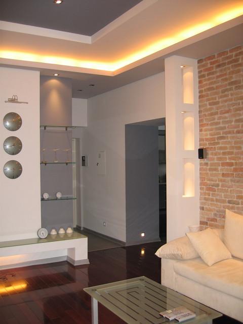 Apartment Zankovec 90 sq.m in Kiev contemporary-living-room