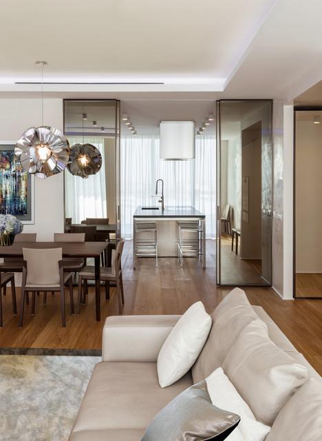 Apartments in milan italy contemporaneo soggiorno for Soggiorno milano
