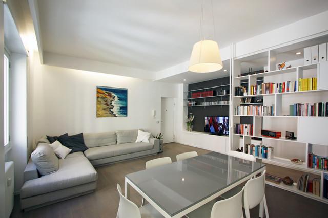 Appartamento l f in via tasso a roma moderno soggiorno for Architetto di interni roma