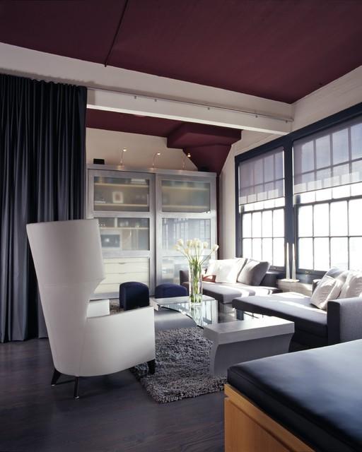 Applegate Tran Interiors Contemporary Living Room