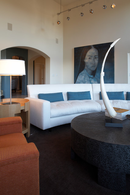 Applegate Tran Interiors contemporary-living-room
