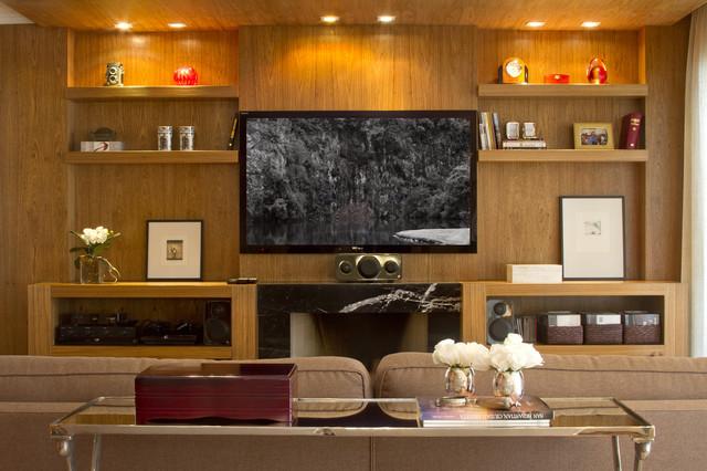 Apt Moema contemporary-living-room