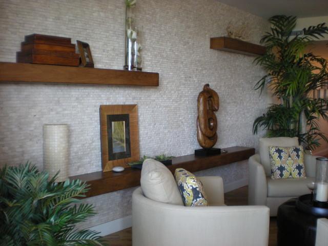 AQUA, NAPLES FL. eclectic-living-room