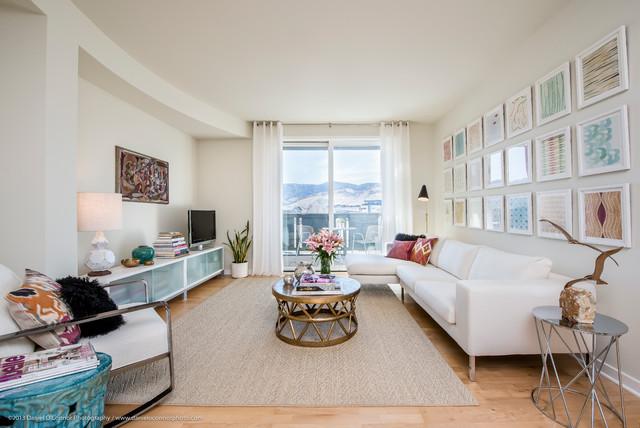 Aquarelle condo interior design contemporary living for Interior design denver