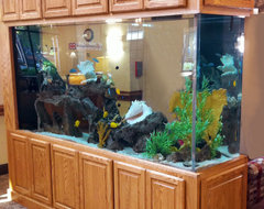 Aquarium Cabinetry traditional living room