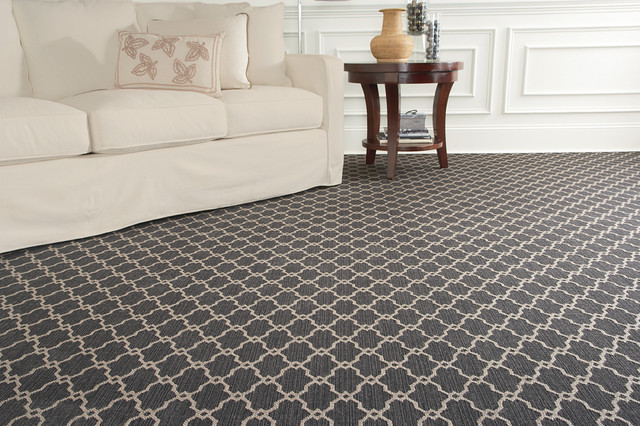 Inspiration For A Contemporary Carpeted Living Room Remodel In Chicago With  White Walls